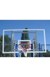 Щит баскетбольный 1800х1050 мм,из оргстекла толщиной 8 мм, с силовой антивибрационной металлической рамой - Купить в интернет магазине СПОРТ СВIТ