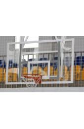 Баскетбольный щит 1800х1050 мм, из оргстекла толщиной 10 мм, с силовой антивибрационной металлической рамой - Купить в интернет магазине СПОРТ СВIТ