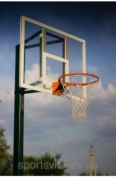 Баскетбольная стойка на одной опоре