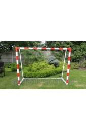 Ворота футбольные детские стальные 2000х1500 (не разборные) с полосами - Купить в интернет магазине СПОРТ СВIТ