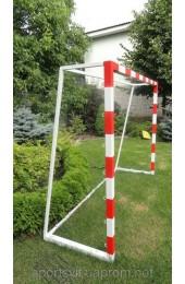 Ворота футбольные детские стальные 2000х1500 разборные с полосами - Купить в интернет магазине СПОРТ СВIТ